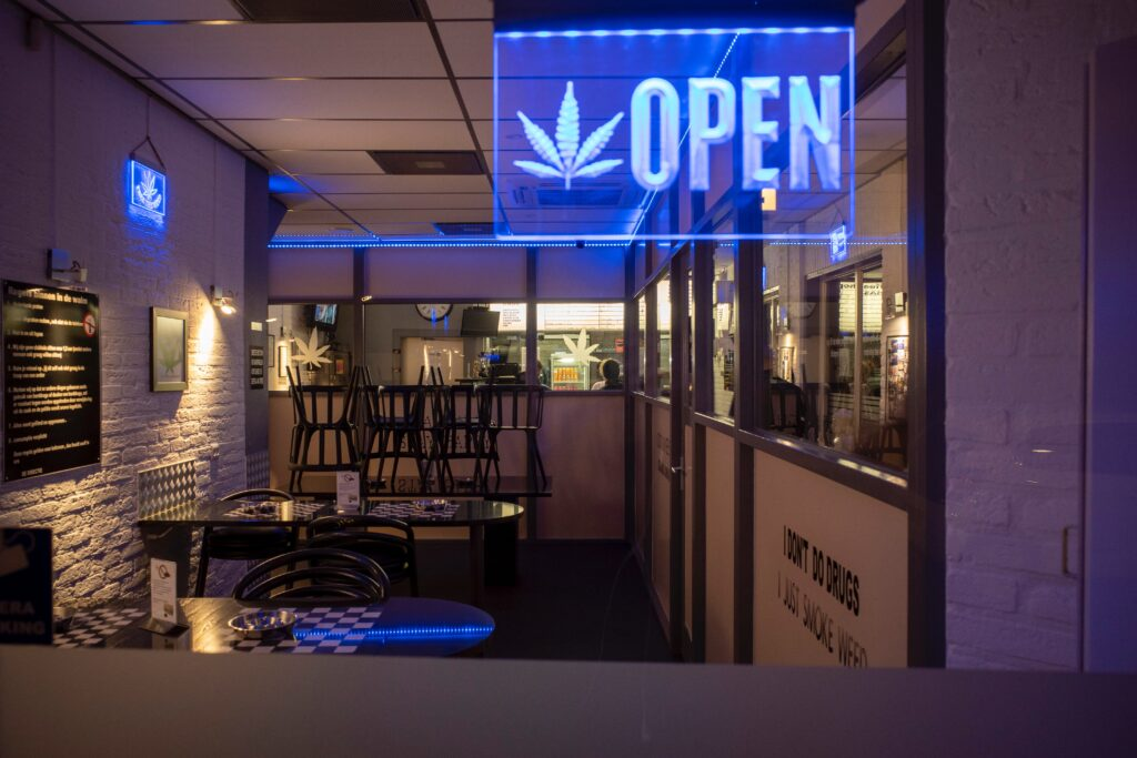 recreational cannabis store entrance